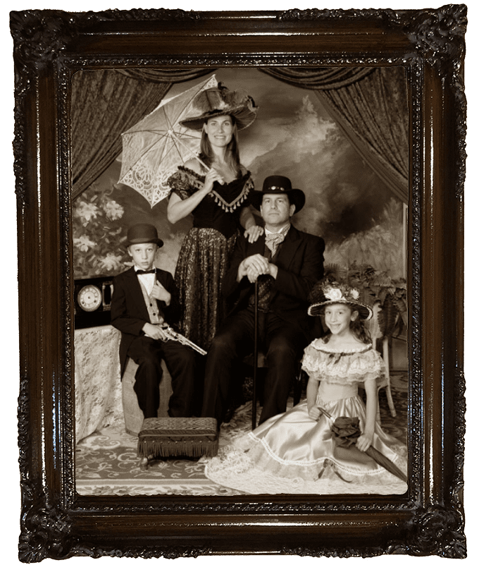 Family Old Time Photo